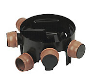 FloPlast Black Underground drainage Inspection chamber, (Dia)450mm