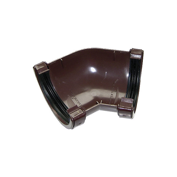 Floplast Brown Half Round 135 Gutter Angle Dia 112mm Diy At B Q