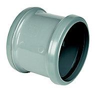 FloPlast Grey Push-fit Underground drainage Coupler (Dia)110mm