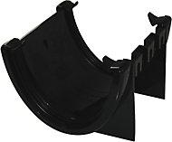 FloPlast Hi-cap Black Half round Union Bracket (Dia)115mm
