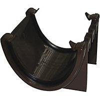 FloPlast Hi-cap Brown Half round Union Bracket (Dia)115mm