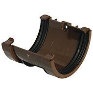 FloPlast Miniflo Brown Half round Union Bracket (Dia)76mm