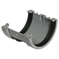FloPlast Miniflo Grey Half round Union Bracket (Dia)76mm