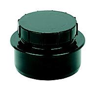 FloPlast Ring seal soil Black Access cap, (Dia)110mm