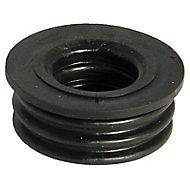 FloPlast Ring seal soil Black Boss adaptor, (Dia)32mm
