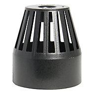FloPlast Ring seal soil Black cast iron effect Push-fit Vent terminal, (Dia)110mm