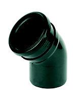 FloPlast Ring seal soil Black Soil bend, (Dia)110mm (L)132mm