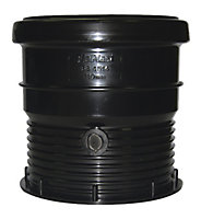 FloPlast Ring seal soil Black Waste pipe connector, (Dia)110mm