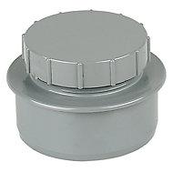 FloPlast Ring seal soil Grey Access cap, (Dia)110mm