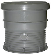 FloPlast Ring seal soil Grey Waste pipe connector, (Dia)110mm