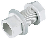 FloPlast Solvent weld Straight Waste Tank connector, (Dia)21.5mm