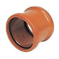 FloPlast Terracotta Push-fit Underground drainage Coupler (Dia)110mm