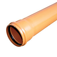 FloPlast Terracotta Push-fit Waste pipe (Dia)110mm