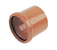 FloPlast Terracotta Underground drainage Waste pipe coupler, (Dia)110mm