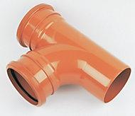 FloPlast Underground drainage Junction, (Dia)110mm (H)110mm