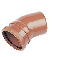 FloPlast Underground drainage Single socket Bend 285117, (Dia)110mm (L)132mm