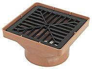 FloPlast Underground drainage Square Hopper & grid, (Dia)110mm