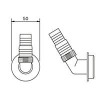 FloPlast White Compression Dishwasher & washing machine Nozzle (Dia)40mm