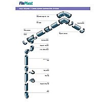 FloPlast White Round 112.5° Offset Downpipe bend, (Dia)68mm