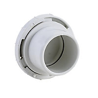 FloPlast White Solvent weld Waste pipe Access plug, (Dia)32mm
