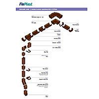 FloPlast White Square Fascia Bracket (Dia)114mm