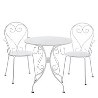 Flores Metal 2 seater Table & chair set