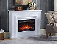 Focal Point Amersham White Electric Fire Suite