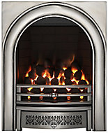 Focal Point Arch Chrome effect Remote controlled Gas Fire FPFBQ249