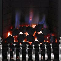 Focal Point Blenheim Black Chrome effect Manual control Fire FPFBQ124