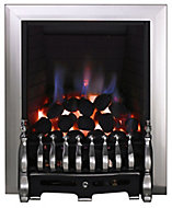 Focal Point Blenheim Black Chrome effect Manual control Gas Fire FPFBQ124
