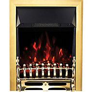 Focal Point Blenheim Brass effect Electric Fire