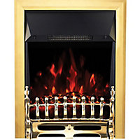 Focal Point Blenheim Brass effect Electric Fire