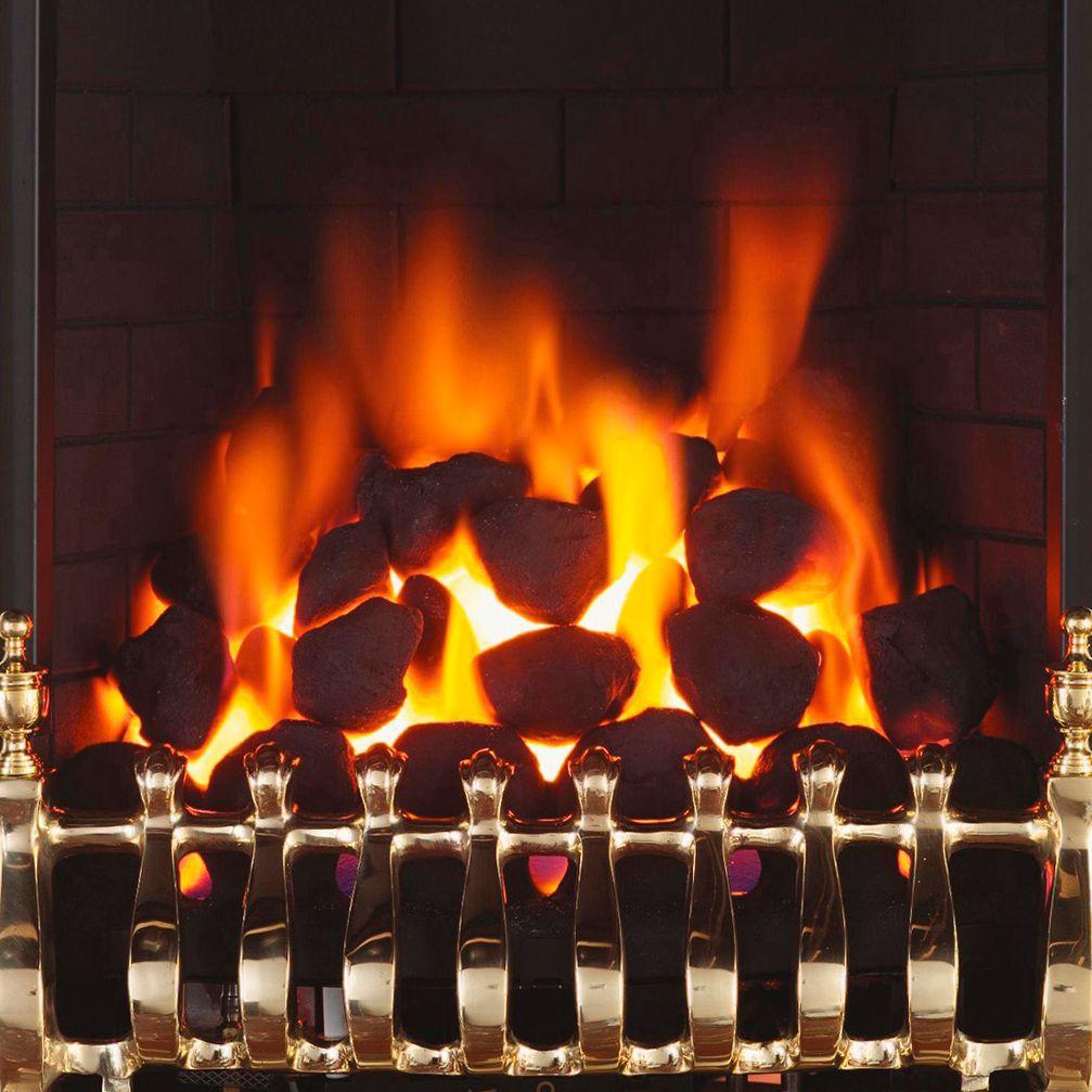 Focal Point Blenheim Brass Effect Gas Fire Diy At B Q