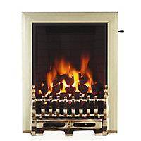 Focal Point Blenheim Brass effect Gas Fire