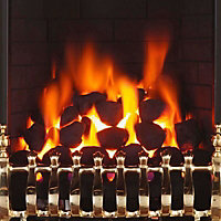 Focal Point Blenheim Brass effect Remote controlled Gas Fire FPFBQ190