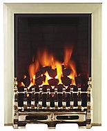 Focal Point Blenheim Brass effect Remote controlled Gas Fire