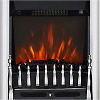 Focal Point Blenheim Chrome effect Electric Fire