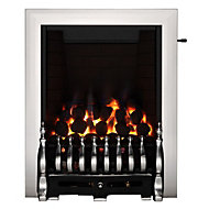 Focal Point Blenheim Chrome effect Gas Fire