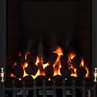 Focal Point Blenheim full depth Black Manual control Gas Fire FPFBQ285