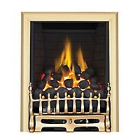 Focal Point Blenheim full depth Brass effect Manual control Fire FPFBQ009