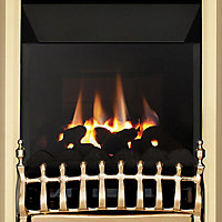 Focal Point Blenheim high efficiency Brass effect Gas Fire