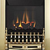 Focal Point Blenheim high efficiency Brass effect Gas Fire