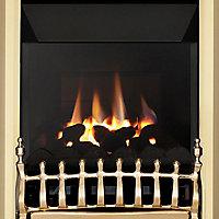 Focal Point Blenheim high efficiency Brass effect Manual control Fire FPFBQ271