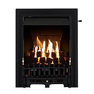 Focal Point Blenheim multi flue Black Slide control Gas Fire FPFBQ284