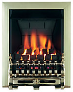 Focal Point Blenheim multi flue Brass effect Gas Fire