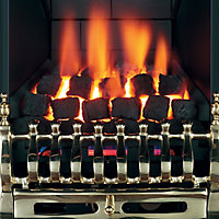 Focal Point Blenheim multi flue Brass effect Gas Fire