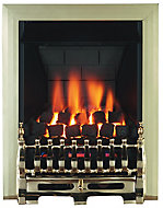 Focal Point Blenheim multi flue Brass effect Remote controlled Gas Fire FPFBQ224