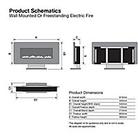 Focal Point Columbus Glass effect Electric Fire