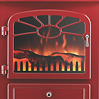 Focal Point ES 2000 Burgundy Electric Stove