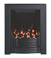 Focal Point Finsbury full depth Black Remote controlled Gas Fire FPFBQ522